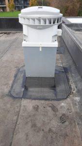 Eén van de drie nieuwe ventilatoren